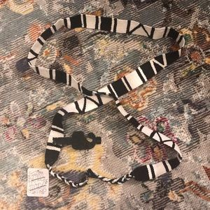 Free People black and white tie belt NWT